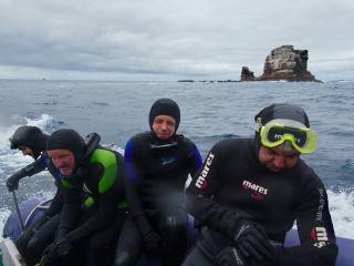 Galapágy - návrat z ponoru