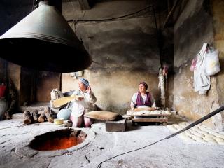 Tradičná arménska pekáreň v meste Goris