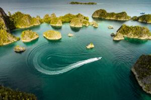 Západná Papua – letecká fotografia